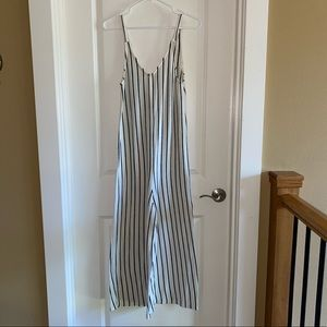 Pull & Bear black and Cream Striped Jumpsuit